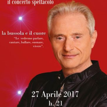 Il Concerto spettacolo di Amedeo Minghi a Gaeta il 24 Aprile 2017