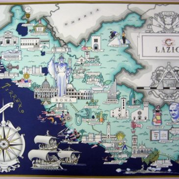 Gaeta rappresentata in un'antica e pittoresca cartografia