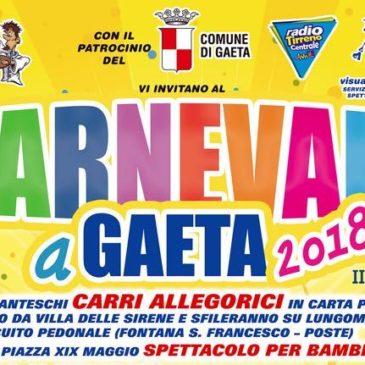 Carnevale 2018 a Gaeta: 4 carri giganti – Ecco il programma