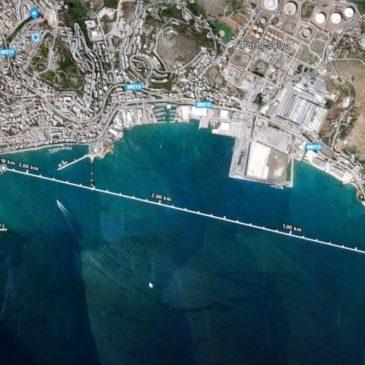 Traversata del Golfo di Gaeta: Un IRONMAN a nuoto e una barca a voga  insieme
