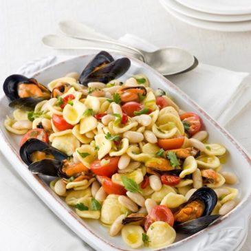 Un piatto fresco per l'estate: Orecchiette cannellini e cozze di Gaeta