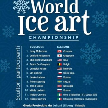 "A Gaeta la seconda edizione  ""World Ice Art Championship"" 2019"