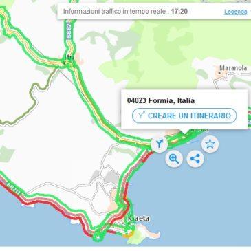 Traffico in tempo reale Gaeta – Formia