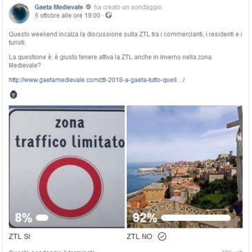 Sondaggio ZTL Gaeta Medievale: Inversione di rotta? I Commercianti al lavoro, la Politica ne discute