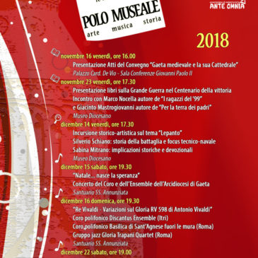 Le Iniziative del Polo Museale di Gaeta: Ecco il programma di Novembre e Dicembre