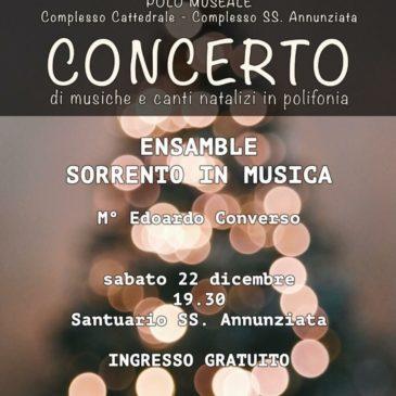 Concerto di Natale: Ensamble Sorrento in Musica diretto dal Maestro Edoardo Converso