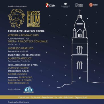 "Premio Eccellenze del Cinema ""Ulysses Film Awards"" a Gaeta!"