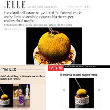 E' di Gaeta il miglior Cocktail Ecosostenibile dell'estate 2019: Il Mai Tai Fabergè di Fabio Camboni
