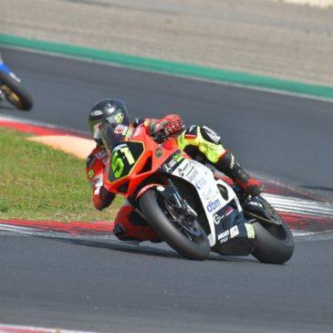 Orgoglio gaetano in pista a Vallelunga con Giuseppe Marsella e Ducati V4