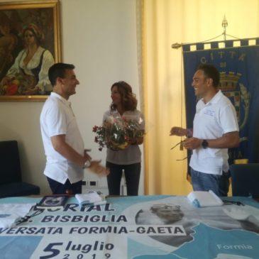 """Presentata la Traversata del GolfoFormia-Gaeta""""Memorial Salvatore Bisbiglia"""""""