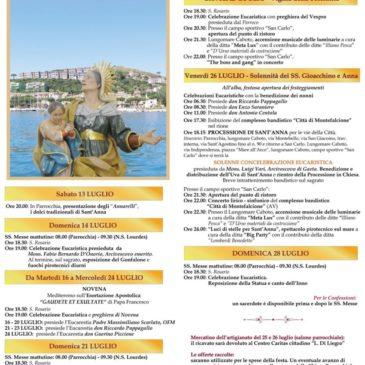 Festa di Sant'Anna: il programma dei festeggiamenti