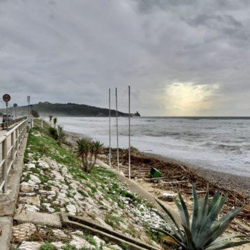 La Spiaggia di Sant'Agostino erosa dal mare