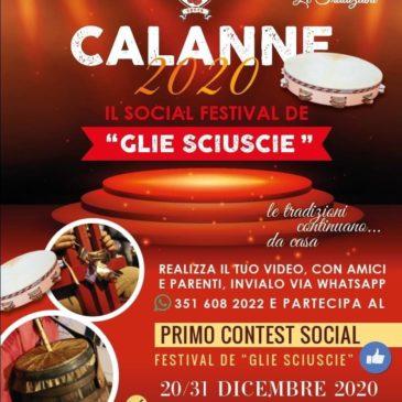 """CALANNE 2020: Il Social Festival de """"GLIE SCIUSCIE"""""""